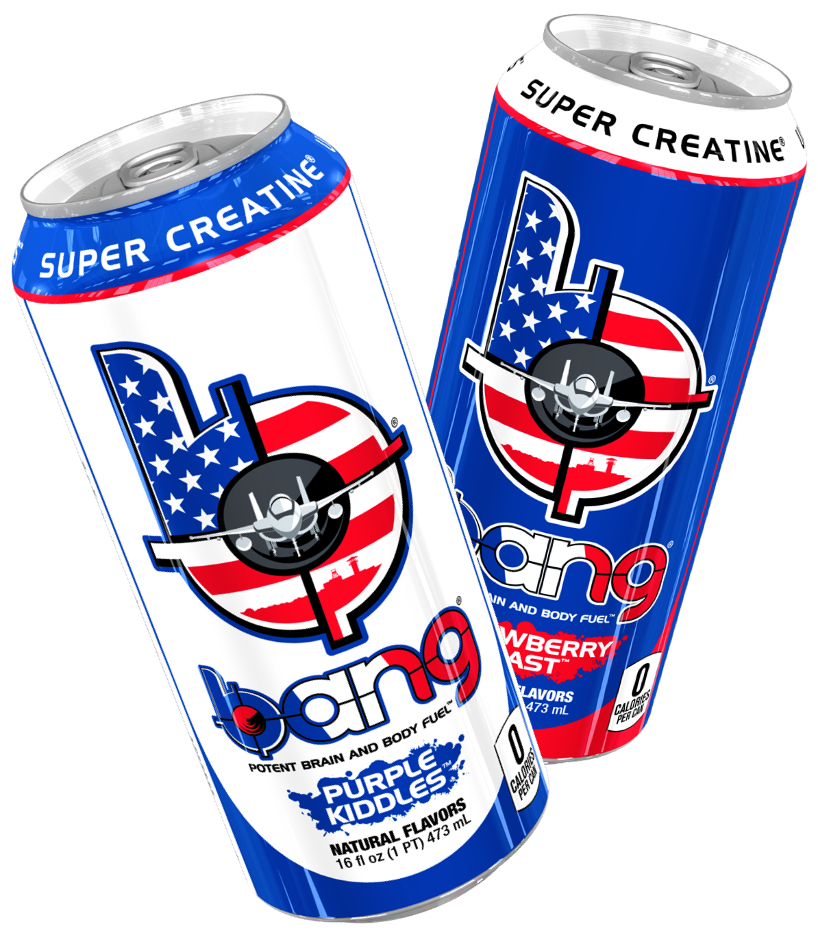 Bang Energy military exclusive cans. Flavors include Purple Kiddles and Strawberry Blast
