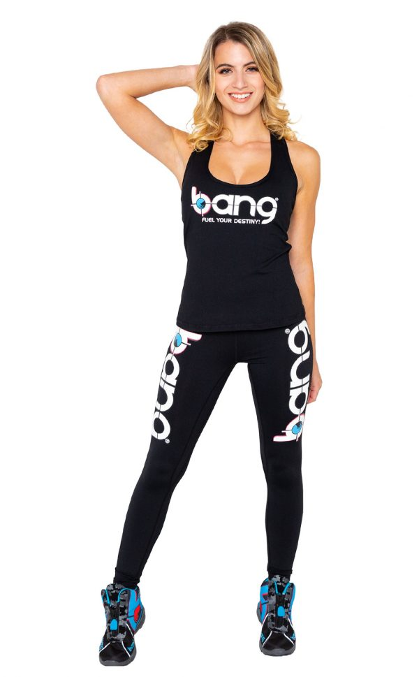 Womens Bang-Black-Booty-Scrunch-Set leggings and tank front