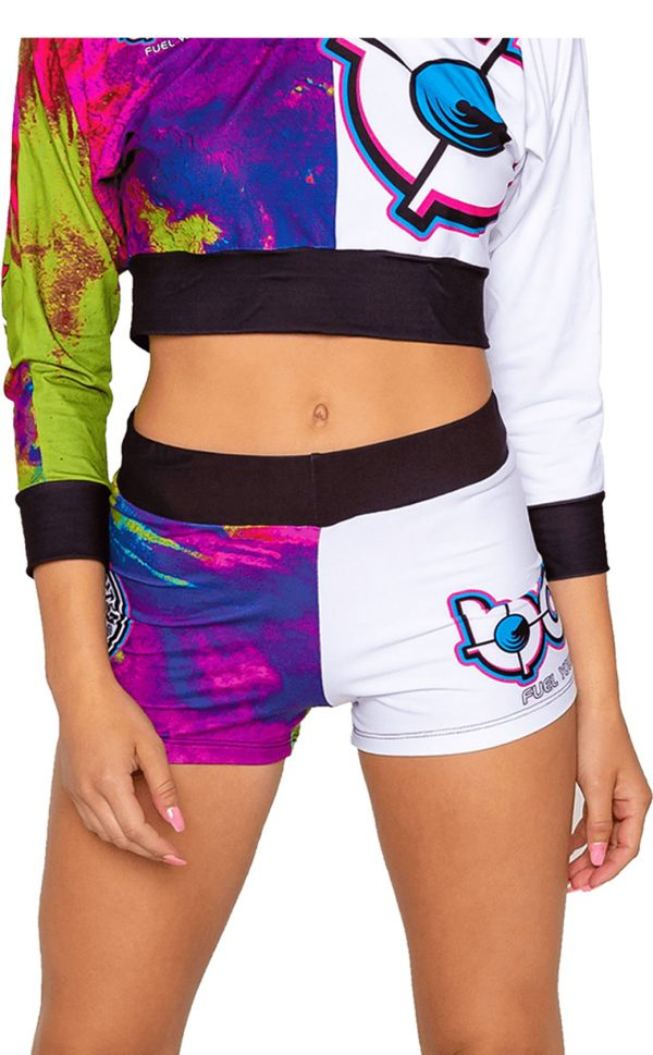 womens-bang-Color-splash-girl-unicorn-shorts