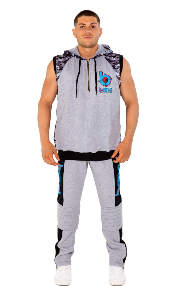 mens bang revolution-Hoodie-bluerazz set front