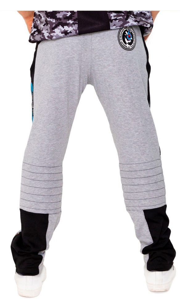 mens bang revolution-Hoodie-bluerazz sweatpants back
