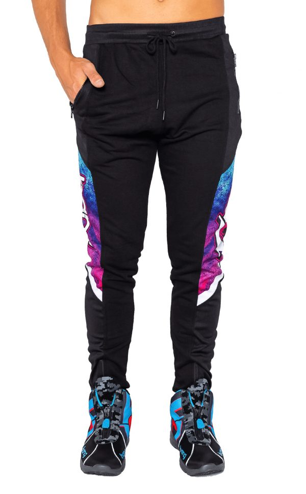 black motif bang energy sweat pants
