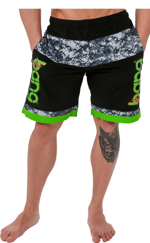 mens bang camo-board-shorts-green 1