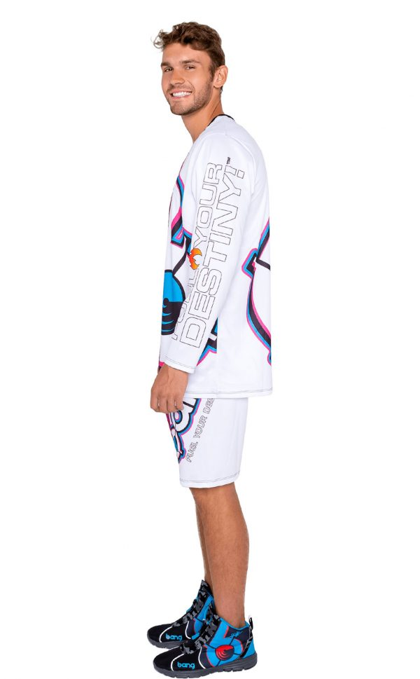 mens bang color-splash-men-shorts set long sleeve