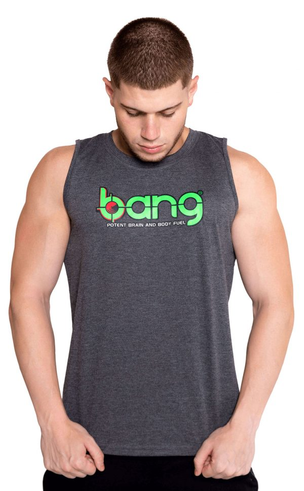 mens bang revolution-camo-vneck-grey cutt off-shirt 1