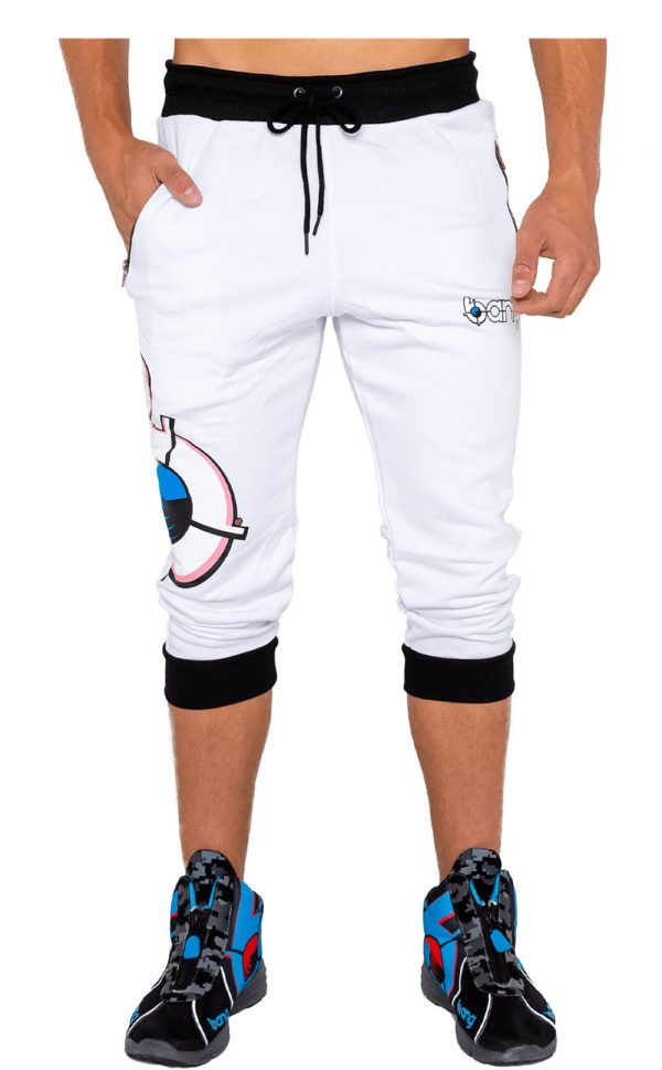 mens bang revolution-white sweatpants joggers