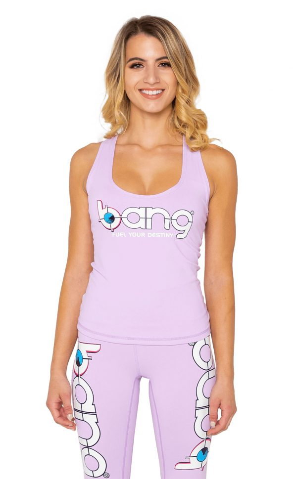 Womens bang energy lilac-Lattice-Tank and leggings