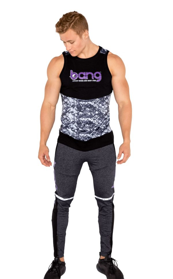 mens bang revolution-muscle-camo-purple haze-set