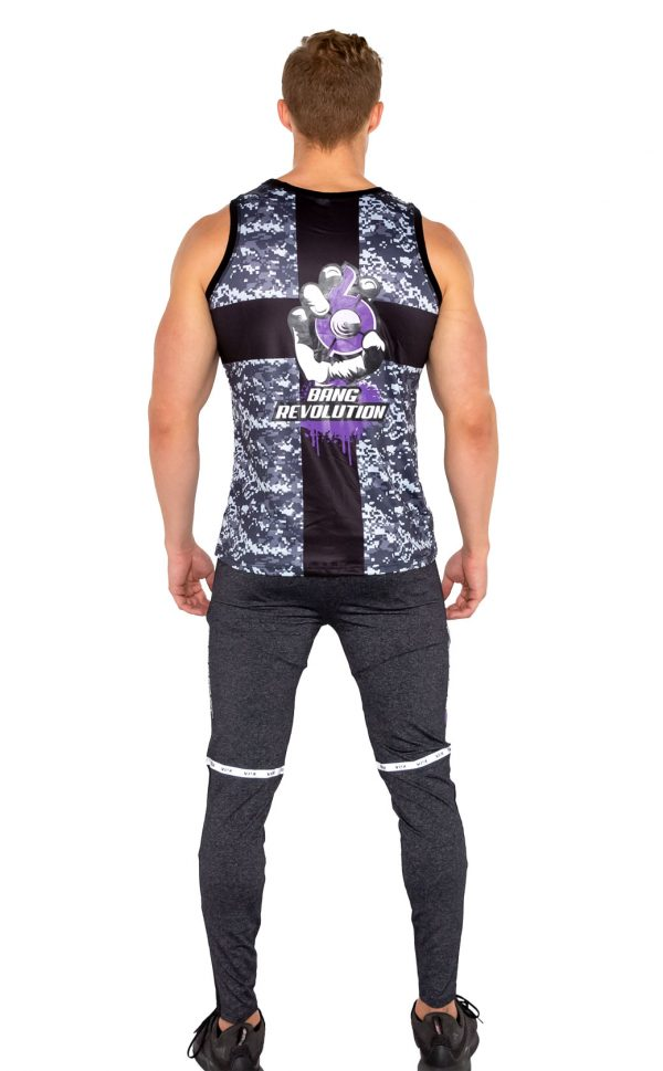 mens bang revolution-muscle-camo-purple haze-sleeveless top 3