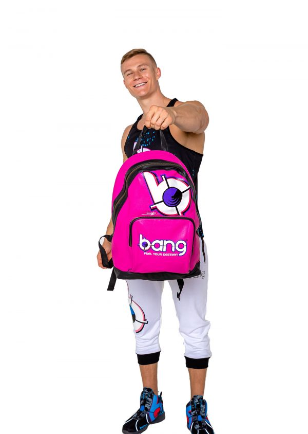 pink bang energy drink backpack