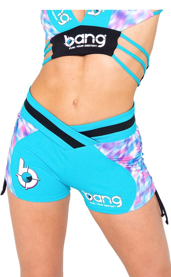 womens-bang-cheetah-corn-blue-shorts-front