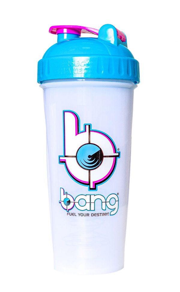 Bang Frosted Protein Shaker blue