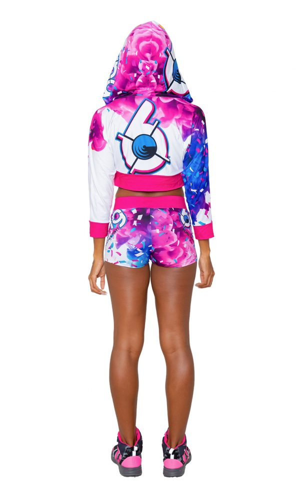Birthday Cake Bash Cropped Women's Hoodie and Shorts back